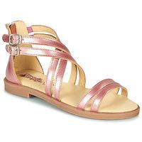 Čevlji  Deklice Sandali & Odprti čevlji Citrouille et Compagnie IMOURAT Rožnata / Zlata