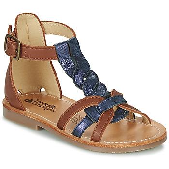 Čevlji  Deklice Sandali & Odprti čevlji Citrouille et Compagnie GITANOLO Kamel