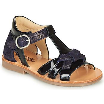 Čevlji  Deklice Sandali & Odprti čevlji Citrouille et Compagnie MOLINETTE Modra