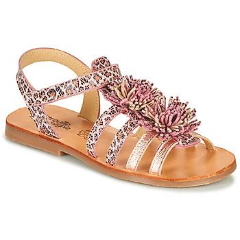 Čevlji  Deklice Sandali & Odprti čevlji Citrouille et Compagnie MARINAS Rožnata