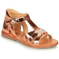 Čevlji  Deklice Sandali & Odprti čevlji Citrouille et Compagnie MINIMOME Bronze