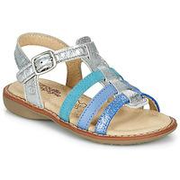 Čevlji  Deklice Sandali & Odprti čevlji Citrouille et Compagnie GROUFLA Srebrna / Modra