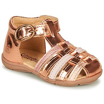 Čevlji  Deklice Sandali & Odprti čevlji Citrouille et Compagnie RINE Rožnata / Metalíza