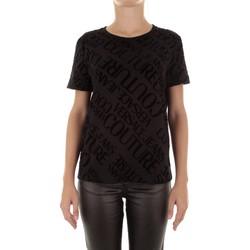 Oblačila Ženske Majice s kratkimi rokavi Versace B2HUB728 Nero