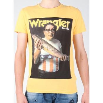 Oblačila Moški Majice s kratkimi rokavi Wrangler T-shirt  S/S Graphic T W7931EFNG yellow