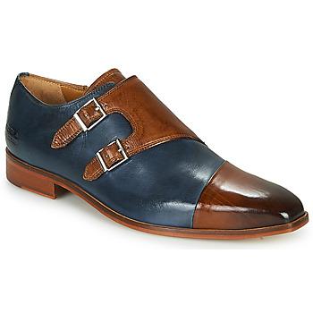 Čevlji  Moški Čevlji Richelieu Melvin & Hamilton LANCE 34 Modra / Kostanjeva
