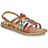 Čevlji  Deklice Sandali & Odprti čevlji Gioseppo ETALLE Cognac / Večbarvna