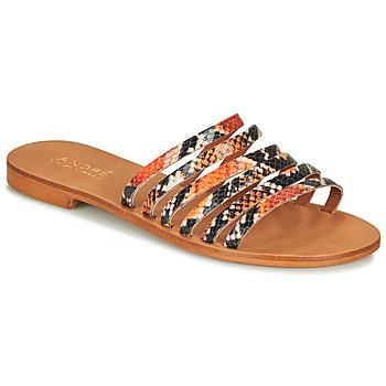 Čevlji  Ženske Sandali & Odprti čevlji André BRAIDINE Oranžna