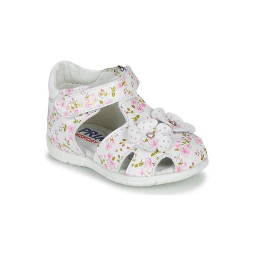 Čevlji  Deklice Sandali & Odprti čevlji Primigi 5401300 Bela / Rožnata