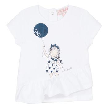Oblačila Deklice Majice s kratkimi rokavi Lili Gaufrette NALIOS Bela