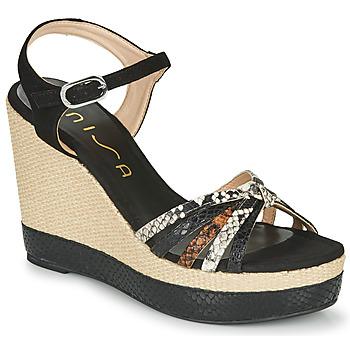 Čevlji  Ženske Sandali & Odprti čevlji Unisa MIRELLA Črna