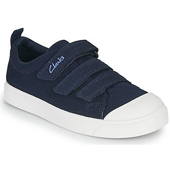 Čevlji  Otroci Nizke superge Clarks CITY VIBE K Modra