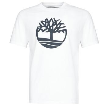 Oblačila Moški Majice s kratkimi rokavi Timberland SS KENNEBEC RIVER BRAND TREE TEE Bela