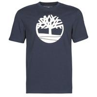 Oblačila Moški Majice s kratkimi rokavi Timberland SS KENNEBEC RIVER BRAND TREE TEE Modra