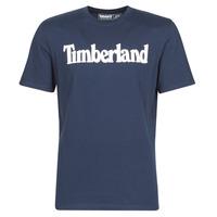 Oblačila Moški Majice s kratkimi rokavi Timberland SS KENNEBEC RIVER BRAND LINEAR TEE Modra