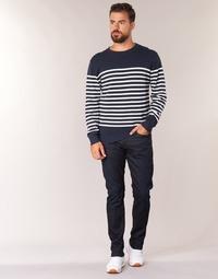 Oblačila Moški Jeans straight G-Star Raw 3301 TAPERED  visor / Stretch / Denim / Tmavá / Vintage