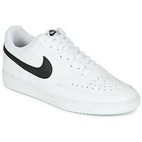 Čevlji  Moški Nizke superge Nike COURT VISION LOW Bela / Črna