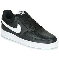 Čevlji  Ženske Nizke superge Nike COURT VISION LOW Črna / Bela