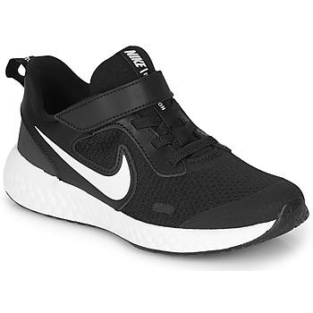 Čevlji  Otroci Šport Nike REVOLUTION 5 PS Črna / Bela