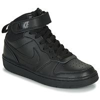 Čevlji  Otroci Visoke superge Nike COURT BOROUGH MID 2 GS Črna