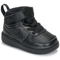 Čevlji  Otroci Nizke superge Nike COURT BOROUGH MID 2 TD Črna