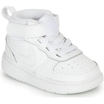 Čevlji  Otroci Nizke superge Nike COURT BOROUGH MID 2 TD Bela