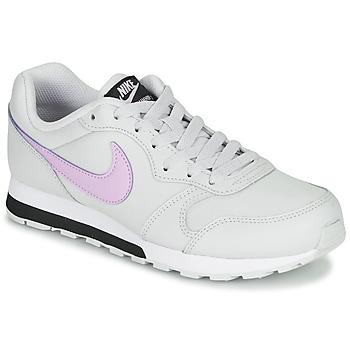 Čevlji  Deklice Nizke superge Nike MD RUNNER GS Bela / Rožnata