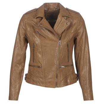 Oblačila Ženske Usnjene jakne & Sintetične jakne Naf Naf CHAO Cognac