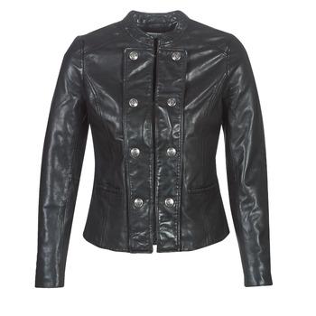 Oblačila Ženske Usnjene jakne & Sintetične jakne Naf Naf CMILI Črna