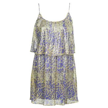 Oblačila Ženske Kratke obleke Marciano LIQUID LEOPARD DRESS Večbarvna