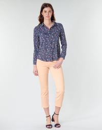 Oblačila Ženske Hlače s 5 žepi Freeman T.Porter LOREEN NEW MAGIC COLOR Coral-pink