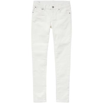 Oblačila Deklice Kavbojke slim Pepe jeans PIXLETTE Bela