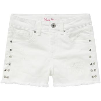 Oblačila Deklice Kratke hlače & Bermuda Pepe jeans ELSY Bela