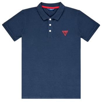 Oblačila Dečki Polo majice kratki rokavi Guess HOSNI Modra