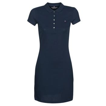 Oblačila Ženske Kratke obleke Tommy Hilfiger HERITAGE SLIM POLO DRS Modra