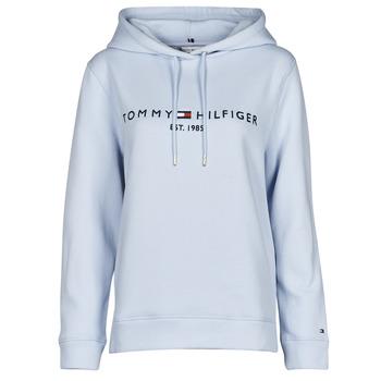 Oblačila Ženske Puloverji Tommy Hilfiger TH ESS HILFIGER HOODIE LS Modra / Nebeško modra