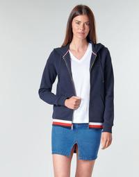 Oblačila Ženske Puloverji Tommy Hilfiger HERITAGE ZIP THROUGH HOODIE Modra