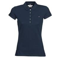 Oblačila Ženske Polo majice kratki rokavi Tommy Hilfiger HERITAGE SS SLIM POLO Modra