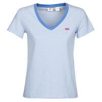 Oblačila Ženske Majice s kratkimi rokavi Levi's PERFECT VNECK Bela / Modra