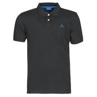 Oblačila Moški Polo majice kratki rokavi Gant GANT CONTRAST COLLAR PIQUE POLO Črna / Modra