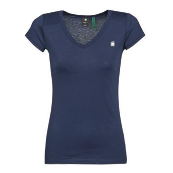 Oblačila Ženske Majice s kratkimi rokavi G-Star Raw EYBEN SLIM V T WMN SS Modra