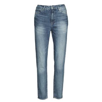 Oblačila Ženske Jeans straight G-Star Raw 3301 HIGH STRAIGHT 90'S ANKLE WMN Modra