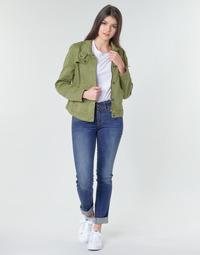 Oblačila Ženske Jeans straight G-Star Raw MIDGE MID STRAIGHT WMN Kaki