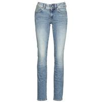 Oblačila Ženske Jeans straight G-Star Raw MIDGE MID STRAIGHT WMN Modra