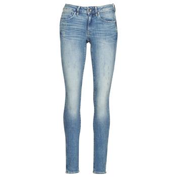 Oblačila Ženske Jeans skinny G-Star Raw MIDGE ZIP MID SKINNY WMN Modra