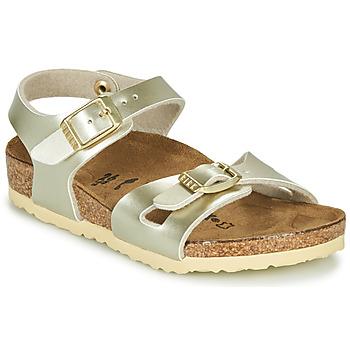 Čevlji  Deklice Sandali & Odprti čevlji Birkenstock RIO Pozlačena