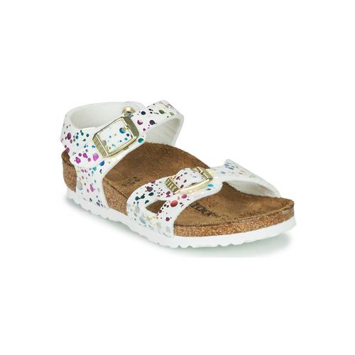 Čevlji  Deklice Sandali & Odprti čevlji Birkenstock RIO Bela / Večbarvna