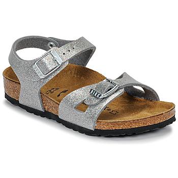 Čevlji  Deklice Sandali & Odprti čevlji Birkenstock RIO Bleščeča / Silver