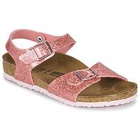 Čevlji  Deklice Sandali & Odprti čevlji Birkenstock RIO PLAIN Sparkle / Old / Rožnata