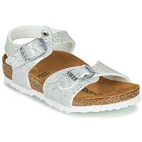 Čevlji  Deklice Sandali & Odprti čevlji Birkenstock RIO PLAIN Bela